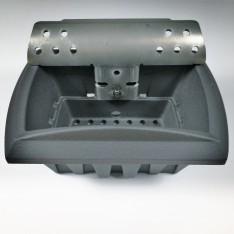 Braciere in ghisa con deflettore interno in acciaio per stufe a pellet Piazzetta