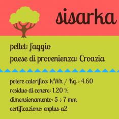Sisarka bancale di pellet di faggio croato certificato da 78 sacchi