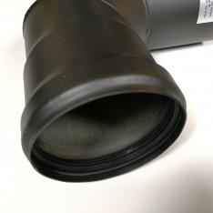 Curva 90° diametro 100 nera per stufa a pellet