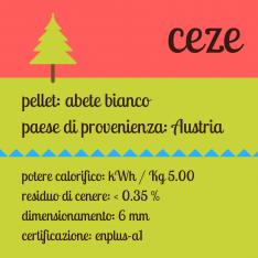 Ceze bancale di pellet di abete chiaro austriaco certificato da 70 sacchi